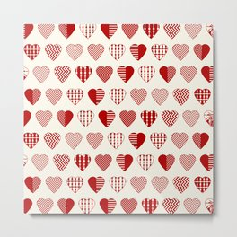AFE Red Hearts Metal Print