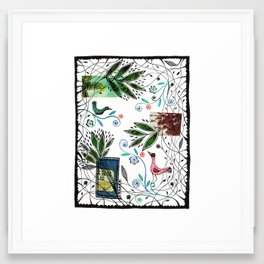 Through the jungle web Framed Art Print