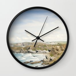 Tilt and Shift Views along the Newquay Coastline Wall Clock