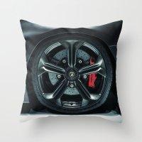 lamborghini Throw Pillows featuring Lamborghini Sesto Elemento  by Spyck