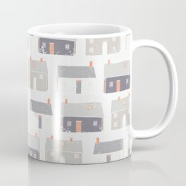 Houses Village Vector Pattern Repeat Seamless Background Coffee Mug