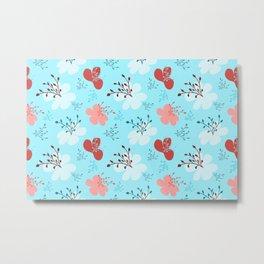flor azul 2 Metal Print