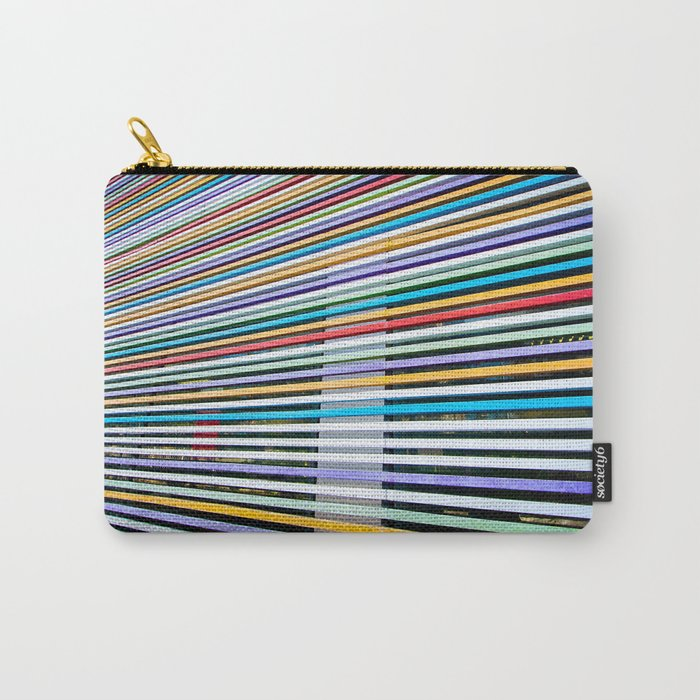 Colored Lines On The Wall Carry-All Pouch