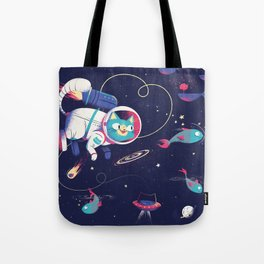 The Adventures of Space Cat Tote Bag