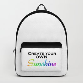 Create Your Own Sunshine Quote Backpack