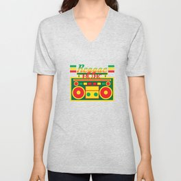 Fan of Reggae Music? Wear it anytime you want with this awesome colorful and creative tee design! Unisex V-Neck