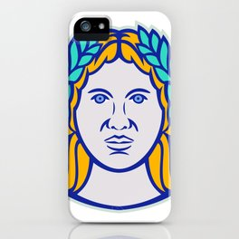 Ceres Roman Agricultural Deity Mascot iPhone Case