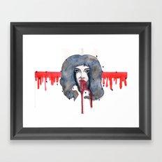 Go on let it Bleed  Framed Art Print