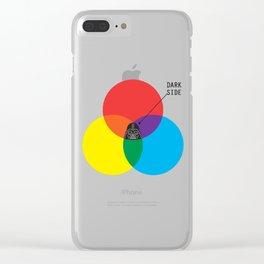 Dark Side Clear iPhone Case