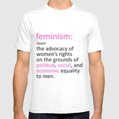 Feminism Defined Mens Fitted Tee White MEDIUM
