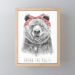 Break the rules Framed Mini Art Print