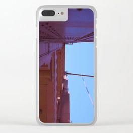 Looking Up, Walking the Golden Gate Clear iPhone Case