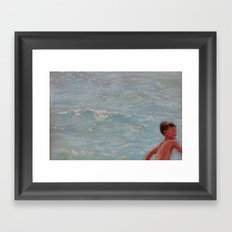 Chasing Waves Framed Art Print
