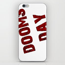 Dooms day red  iPhone Skin