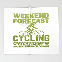 WEEKEND FORECAST CYCLING Throw Blanket
