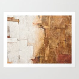 Background with white, brown and gray Art Print