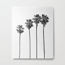 Four Palm Trees Metal Print