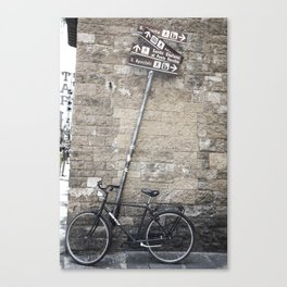 Bicycles Of Tuscany8 Canvas Print