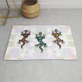 RETRO GECKO GUYS Rug