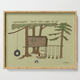 Tree Fort Serving Tray