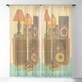 RECORD ROOM Sheer Curtain