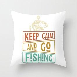 Fishing Fishing anglers Throw Pillow