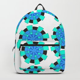 abstract green and blue cloves Backpack