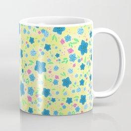 Forget Me Nots - Yellow Coffee Mug