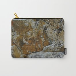 Cornish Headland Cracked Rock Texture with Lichen Carry-All Pouch
