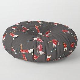 man united pattern fill Floor Pillow