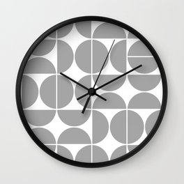Mid Century Modern Geometric 04 Grey Wall Clock