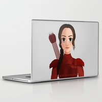 mockingjay Laptop & iPad Skins featuring The Mockingjay by artbyjody