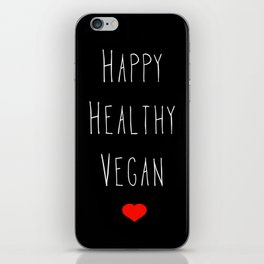 Happy Vegan iPhone Skin