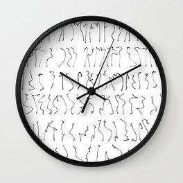 poses of a dancing line Wall Clock