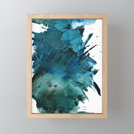 Scenic Route [2]: a pretty, minimal abstract piece in blue and green by Alyssa Hamilton Art Framed Mini Art Print