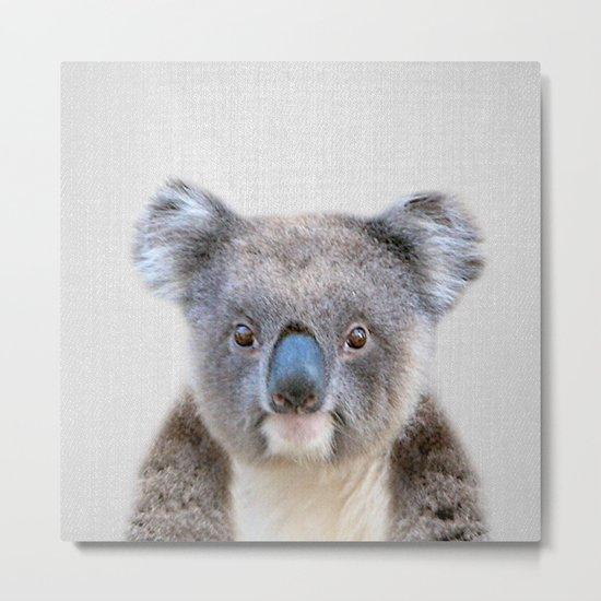 Koala - Colorful Metal Print