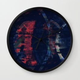 echoes in crepescule Wall Clock