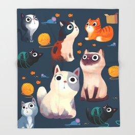 Cat Print Throw Blanket