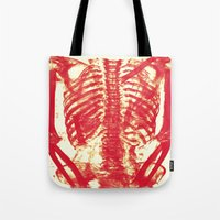 nicolas cage Tote Bags featuring Rib Cage  by troymac1892