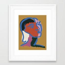 Ninette 03 Modern portrait Framed Art Print