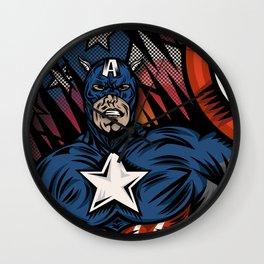 Captaino Americano Wall Clock