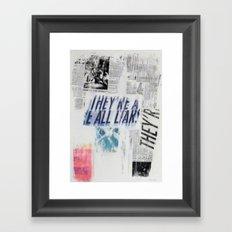 COLLAGE 3 Framed Art Print