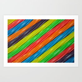 Rainbow colors licorice Art Print