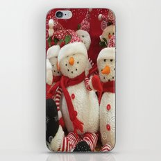 Snowman Party iPhone & iPod Skin