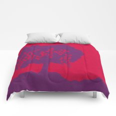 Fruit Tree Series, Red IV Comforters