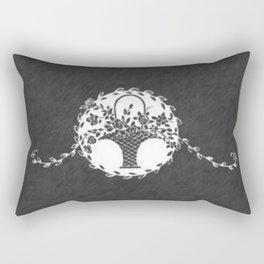 Vintage Floral Chalkboard Rectangular Pillow