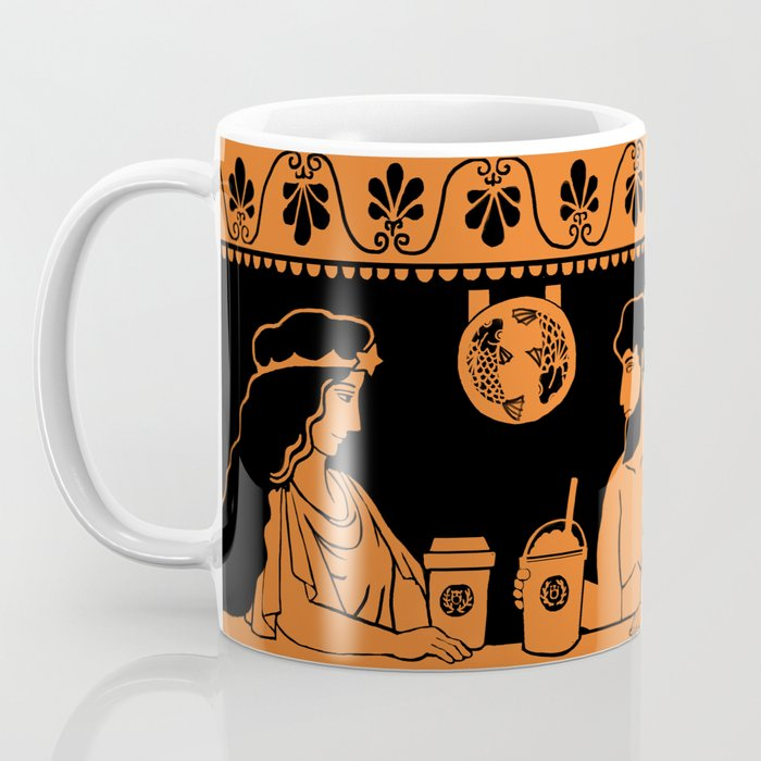 The Coffeehouse on greek pottery Coffee Mug
