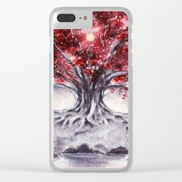 The White Tree Clear iPhone Case