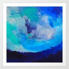 Blue Abstraction Landscape Art Print
