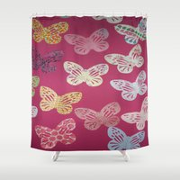 butterflies Shower Curtains featuring Butterflies  by Sammycrafts